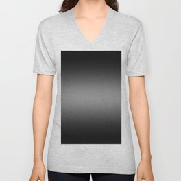 Black to Gray Horizontal Bilinear Gradient Unisex V-Neck