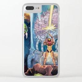 Super Metroid Fan Art Clear iPhone Case