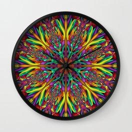 Crazy colors 3D mandala Wall Clock