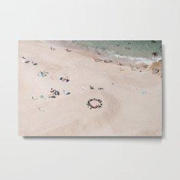 beach - circle of friends Metal Print