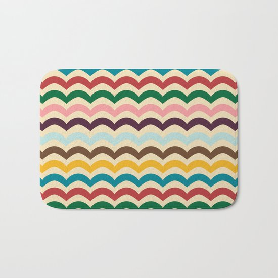 sweet summer waves Bath Mat