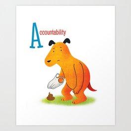 Accountability Art Print