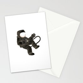 Zero Gravitation Astronaut Pose Stationery Cards
