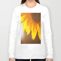 sunflower Long Sleeve T-shirts featuring Sunflower by Maite Pons