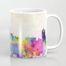 Fresno skyline in watercolor background Coffee Mug