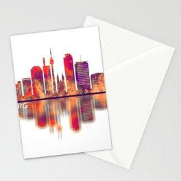 Nuremberg Germany Skyline Stationery Cards