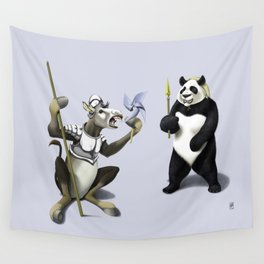 Donkey Xote and Sancho Panda (Colour) Wall Tapestry