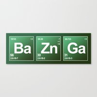 bazinga Canvas Prints featuring Breaking Bazinga by dutyfreak