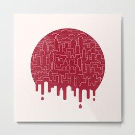 Painted Red Metal Print