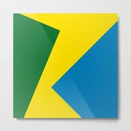 Green, Yellow, Blue Squares Metal Print