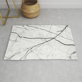 White marble abstract texture pattern Rug