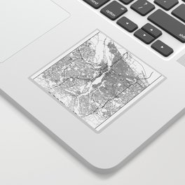 Minimal City Maps - Map Of Portland, Oregon, United States Sticker