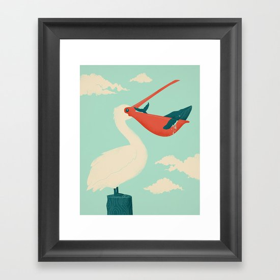 Big Catch Framed Art Print
