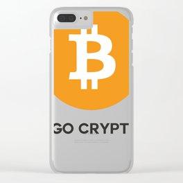 Bitcoin  - I GO CRYPTO Clear iPhone Case