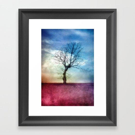 ATMOSPHERIC TREE III Framed Art Print