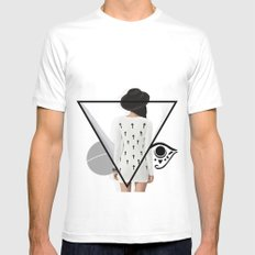 confusion White Mens Fitted Tee MEDIUM