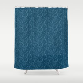 Swirled - Deep Teal Shower Curtain