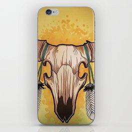 Buffalo skull iPhone Skin