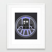 agents of shield Framed Art Prints featuring Agents of TARDIS Doctor Who Agents of Shield Mash Up by Whimsy and Nonsense