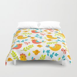 Easter Little Peeps Baby Chicks Pattern Duvet Cover