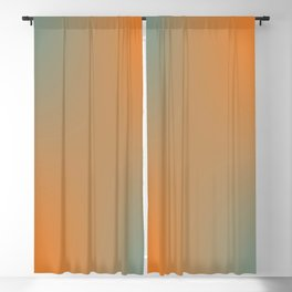 Blue Orange Salad Blackout Curtain