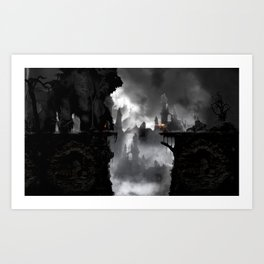the beauty and the beast Art Print