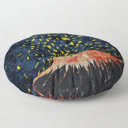 Erupting volcano Floor Pillow