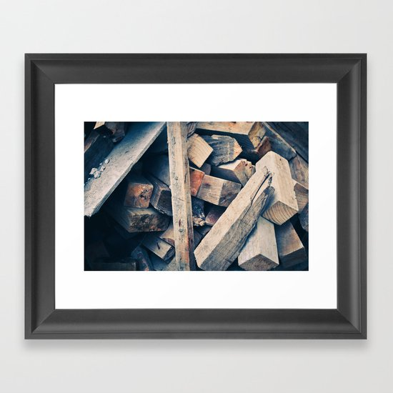 Wood Scraps Framed Art Print