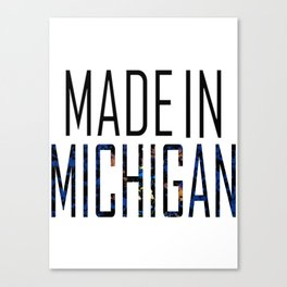 Made In Michigan Canvas Print
