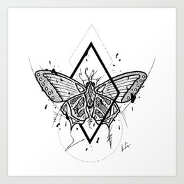 Butterfly Handmade Drawing, Made in pencil and ink, Tattoo Sketch, Tattoo Flash, Blackwork Art Print