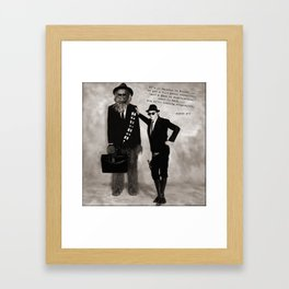 Chews Brothers (with text) Framed Art Print