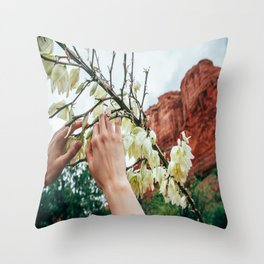 Flowers of Sedona Throw Pillow
