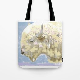 White buffalo calf Tote Bag