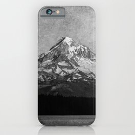 Mt Hood Black and White Vintage Nature Photography iPhone Case