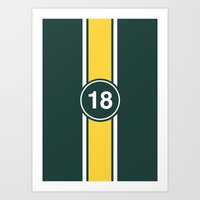 racing Art Prints featuring RACING COLOURS- RACING GREEN by MATT WARING