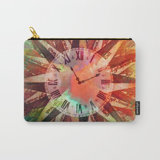 Synchronicity 11:11 Clock Face Time Design Carry-All Pouch