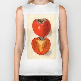 Vintage Plum Tomato Illustration Biker Tank