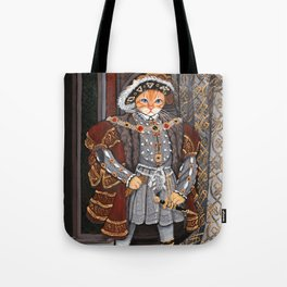 Henry the 8th As A Cat Tote Bag