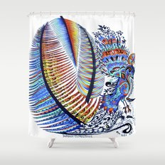 Which Came First? The Indigo or the Egg? Shower Curtain