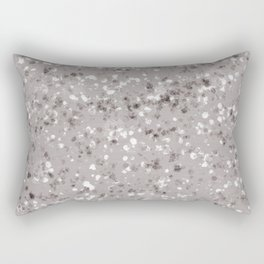 Taupe Gray and White Mottled Abstract Rectangular Pillow