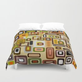 Abstract Composition 663 Duvet Cover