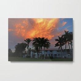 Sunset Over Tarpon Metal Print