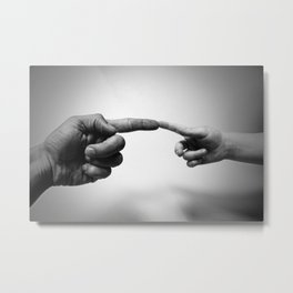 Father and Child Photographic Motif Metal Print