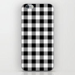 Black and White Country Buffalo check iPhone Skin