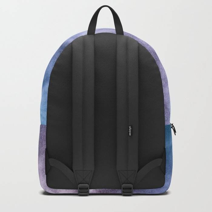 Blue and purple abstract heavenly clouds Backpack