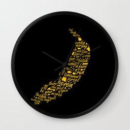 Velvet Underground & Nico Album Typographic Illustration Wall Clock