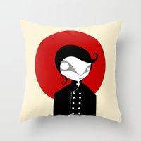 alone Throw Pillows featuring Alone by Volkan Dalyan
