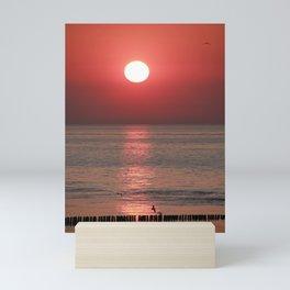 Sunsest in Breskens in the Netherlands Mini Art Print