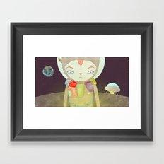 탐사 TO YOUR HEART TO THE MOON Framed Art Print