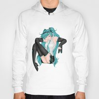 vocaloid Hoodies featuring Hatsune Miku by Stacy L Gage